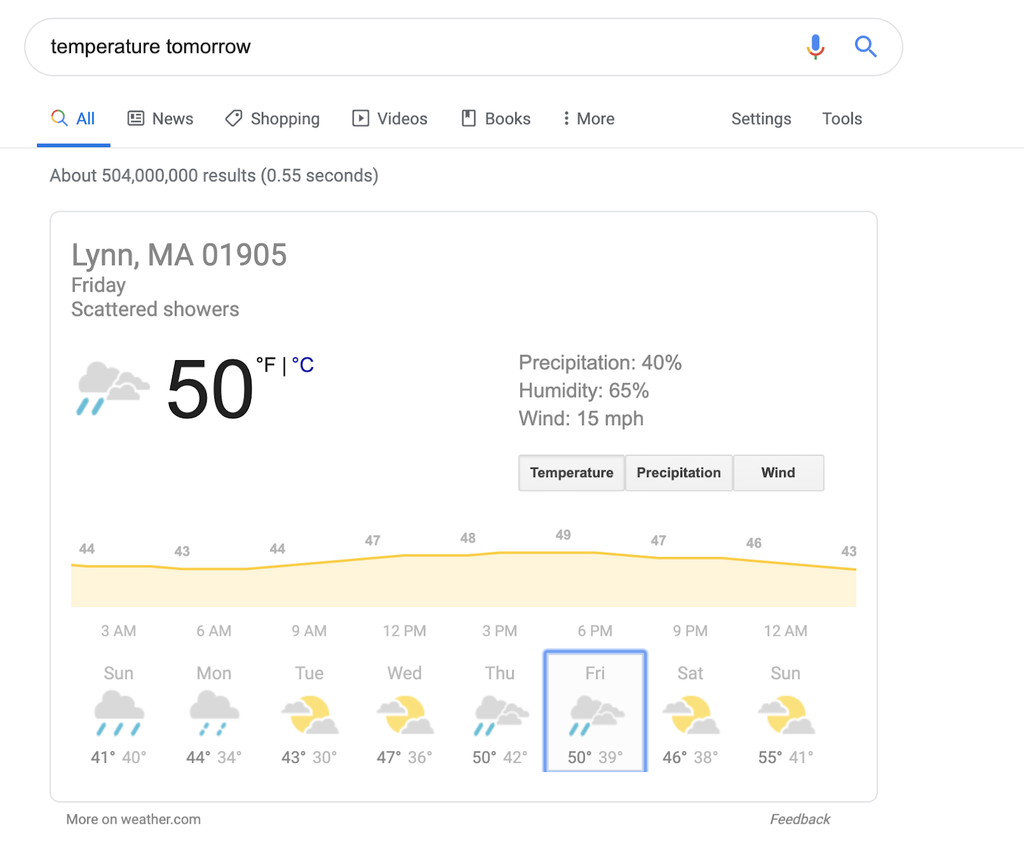 weather query