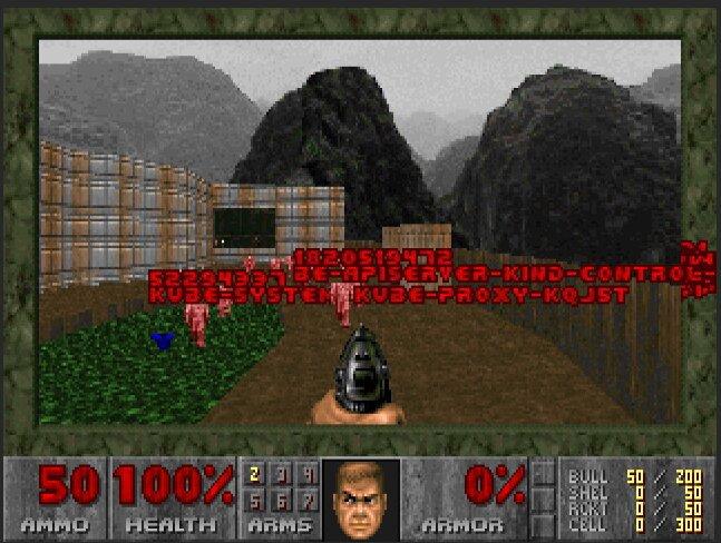 Kill Kubernetes pods using Id's Doom!